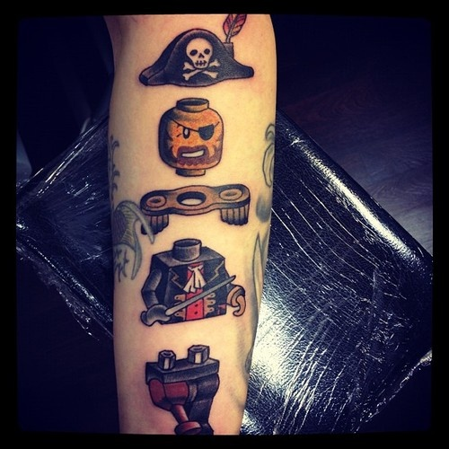 Lego man tattoos