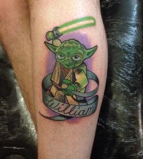 Awesome lego star wars Yoda tattoo