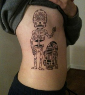 Awesome lego star wars robot tattoo