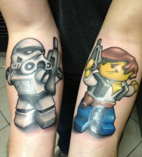 Awesome lego star wars stormtrooper tattoo