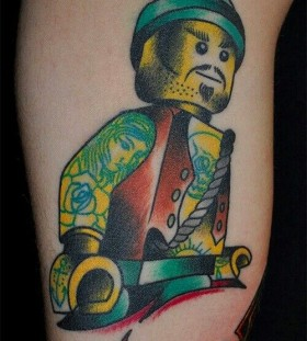 Badass lego man tattoo