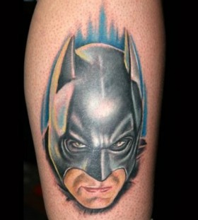Batman head tattoo