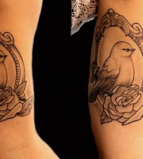 Bird in the mirror tattoo