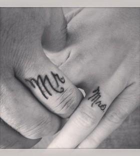 Black Mr and Mrs husband and wife tattoo