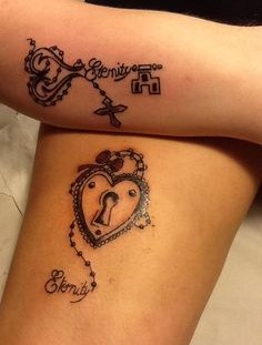 Black adorable eternity husband and wife tattoo