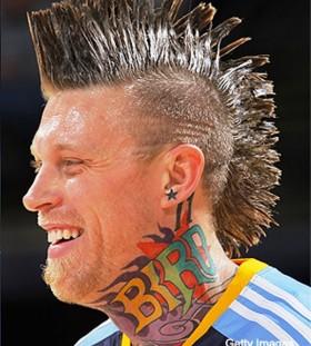 Chris Andersen's bird tattoo