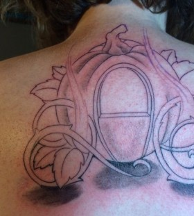 Cinderella pumpkin carriage tattoo