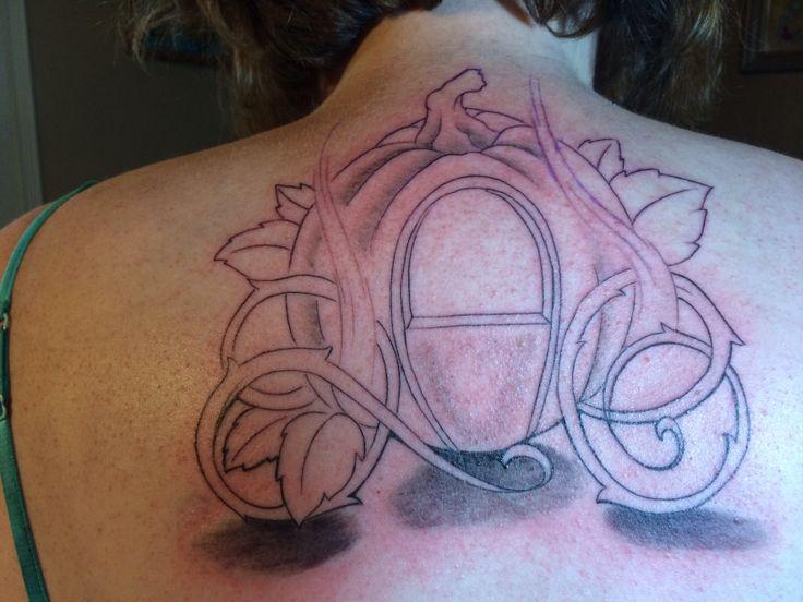 Cinderella pumpkin carriage tattoo
