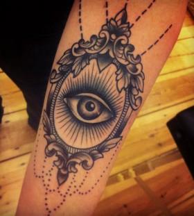 Cool eye in the mirror tattoo
