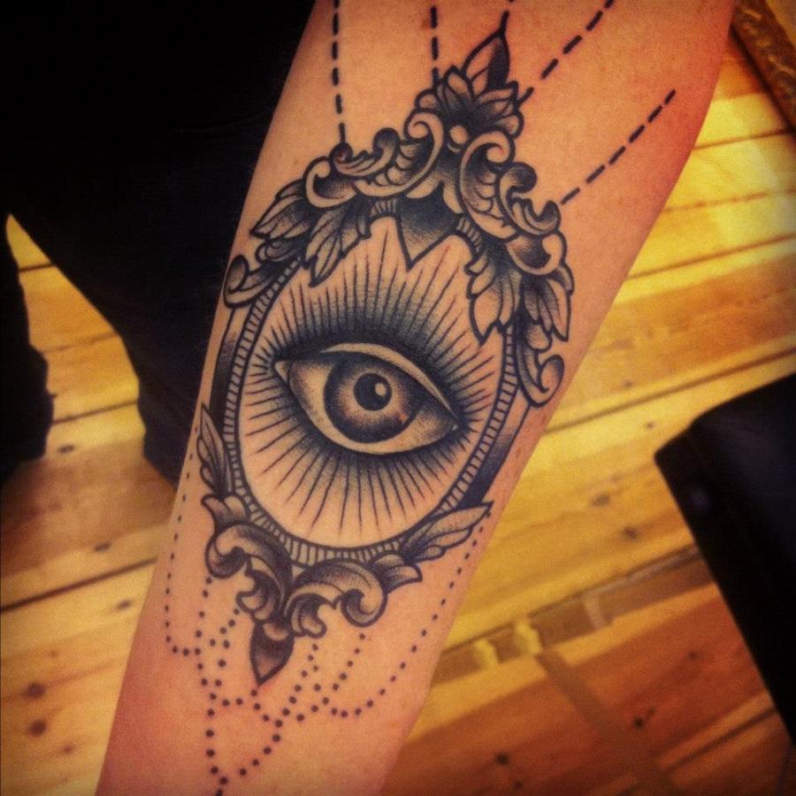 Cool eye in the mirror tattoo - | TattooMagz › Tattoo