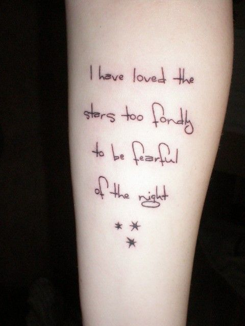 Cool quote astronomic tattoo