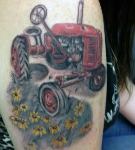 Cool tractor tattoo