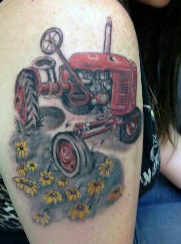 Cool tractor tattoo