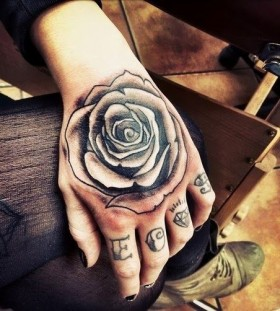 Cute small rose tattoo