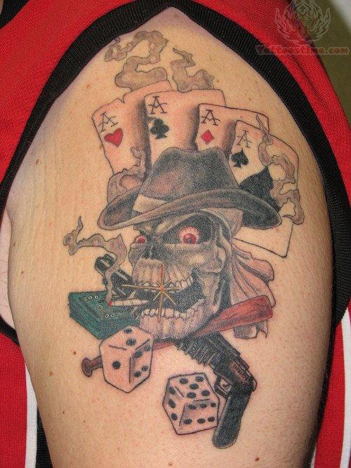 Dead man gambling tattoo