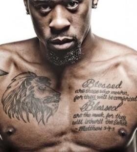 Deandre Jordan's chest tattoos
