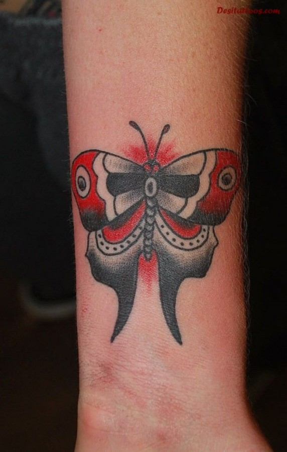 Design gallery red butterfly tattoo