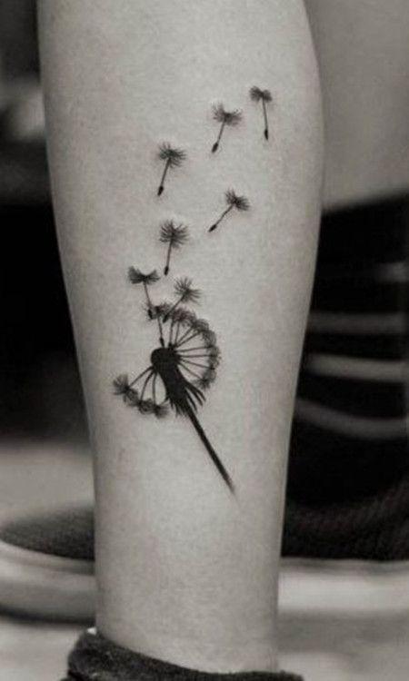 Flying Dandelion Tattoo Tattoomagz Tattoo Designs