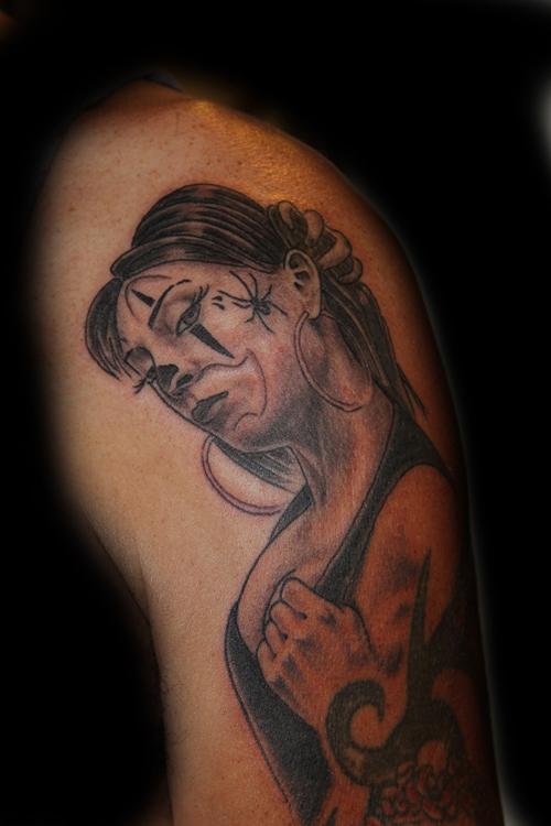 Girl Clown Face Tattoos Girl Clown Arm Tattoo