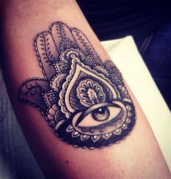89218422e1062 Hamsa black eye tattoo - | TattooMagz › Tattoo Designs / Ink Works ...