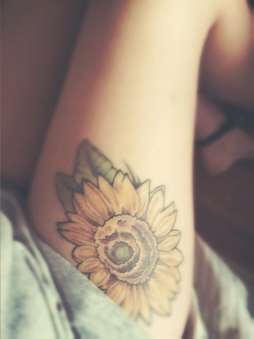 Hippie style flower tattoo