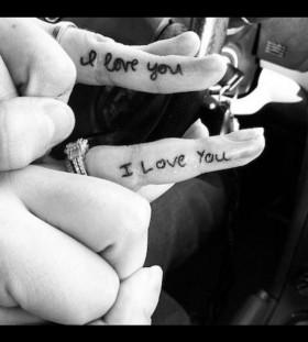 I love you husband and wife tattoo