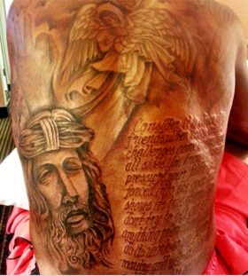 Incredible Kevin Durant's back tattoo