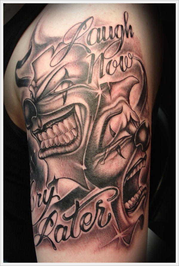 Smile Now Cry Later Tattoo: Laugh Now Cry Later Clown Tattoo -