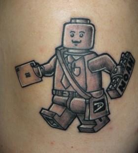 Lego mailman tattoo