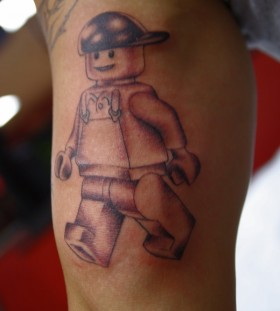 Lego raperman tattoo