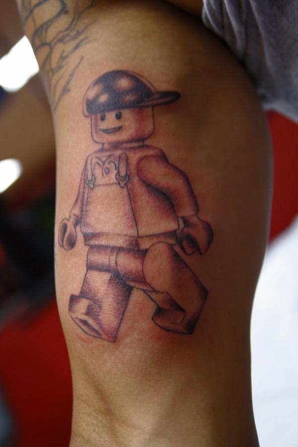 Lego raperman tattoo