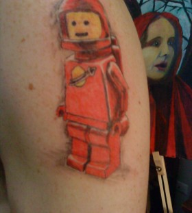 Lego spaceman tattoo