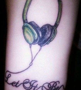 Let it be headphones tattoo