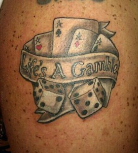 Life's a gamble cards tattoo