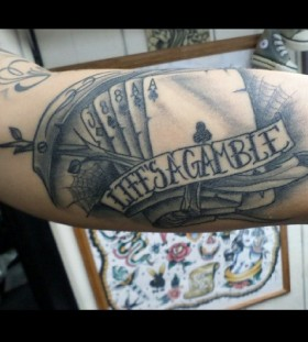 Life's a gamble poker tattoo