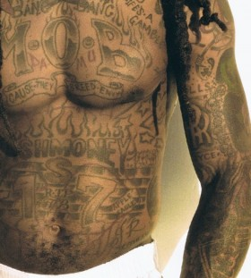 Lil Wayne huge body tattoo