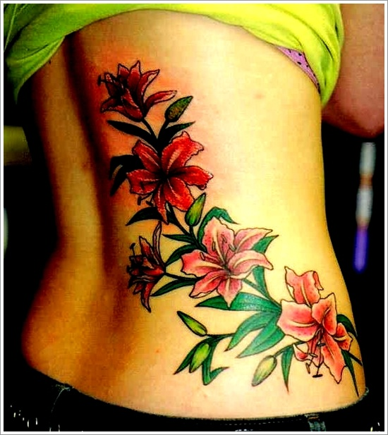 Lovely orchid back tattoo