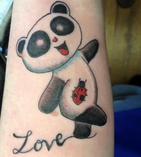 Lovely panda arm tattoo