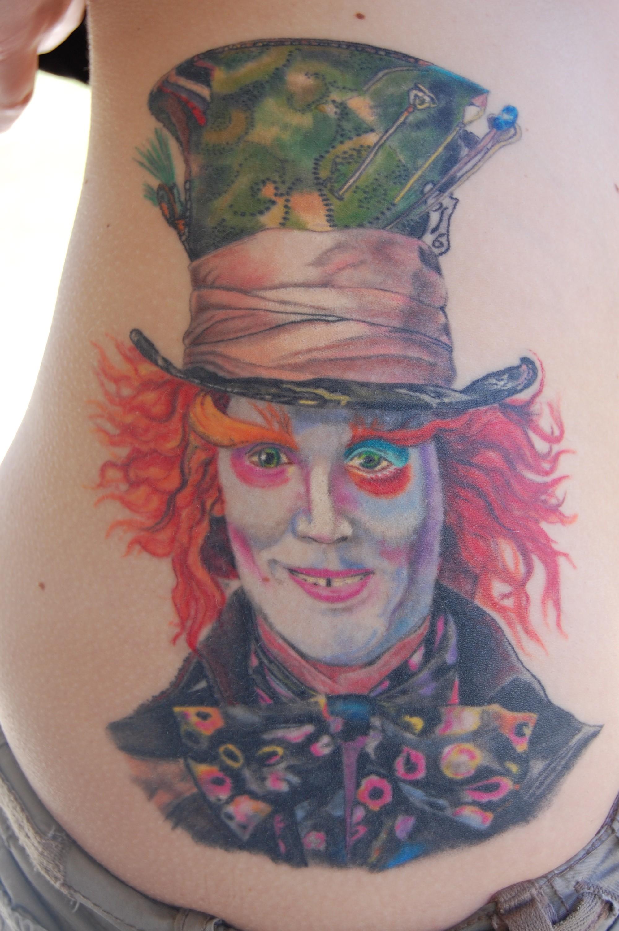 Mad Hatter Side Tattoo Tattoomagz Tattoo Designs