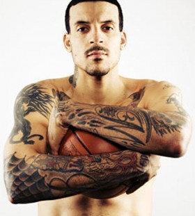 Matt Barnes both hand tattoos