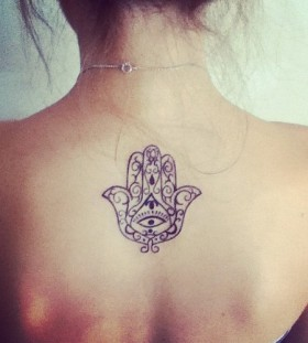 Mystic Indie back tattoo