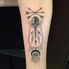 Old lightbulb tattoo