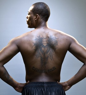 Paul Pierce's back tattoo
