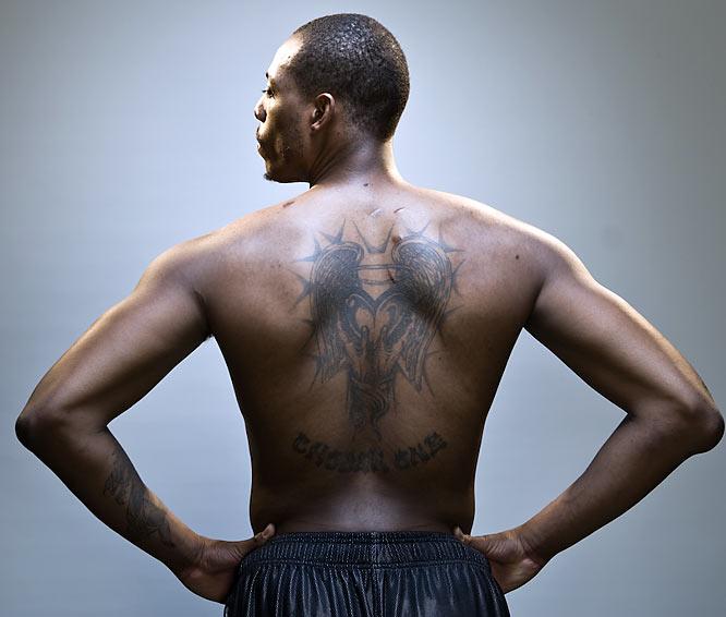 Paul Pierce's back tattoo