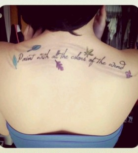 Pocahontas quote back tattoo