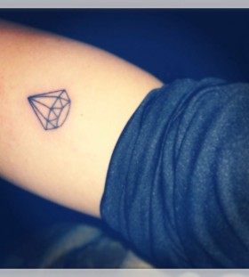 Pretty black diamond tattoo on arm