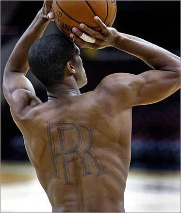 Rajon Rondo's back tattoo