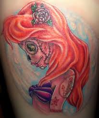 Scary Little Mermaid tattoo