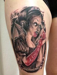 Scary Snow White tattoo