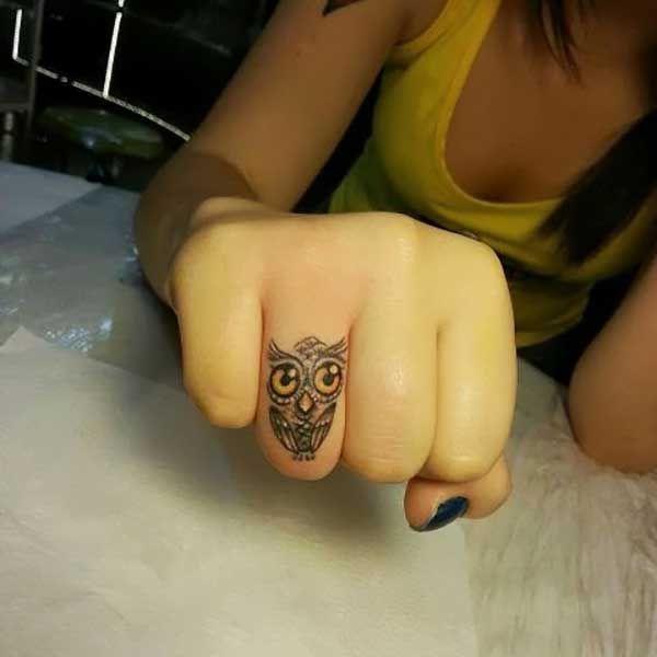 bb062d0c6 Small finger owl tattoo - | TattooMagz › Tattoo Designs / Ink Works ...